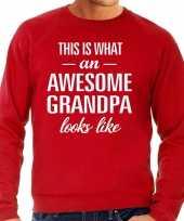 Awesome grandpa opa cadeau sweater rood heren