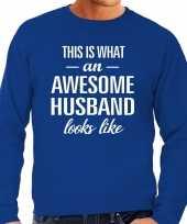 Awesome husband echtgenoot cadeau sweater blauw heren