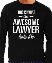 Awesome lawyer advocaat cadeau sweater zwart heren
