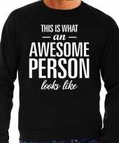 Awesome person persoon cadeau sweater zwart heren