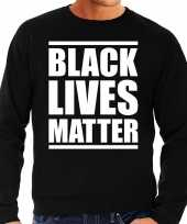 Black lives matter demonstratie protest sweater zwart heren