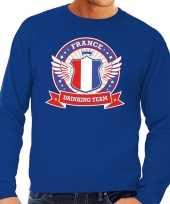 Blauw france drinking team sweater heren