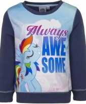 Blauwe my little pony sweater meisjes