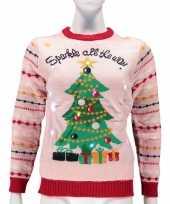 Dames foute kersttrui sparkle all the way lichtjes