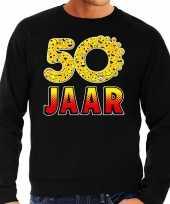 Funny emoticon sweater jaar zwart heren