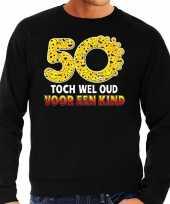 Funny emoticon sweater toch wel oud een kind zwart heren