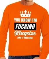 Grote maten fucking kingsize oranje sweater heren