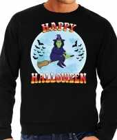 Happy halloween heks verkleed sweater zwart heren