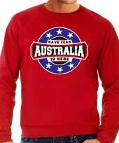 Have fear australia is here australie supporter sweater rood heren