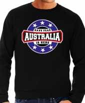 Have fear australia is here australie supporter sweater zwart heren