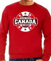 Have fear canada is here canada supporter sweater rood heren