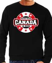 Have fear canada is here canada supporter sweater zwart heren