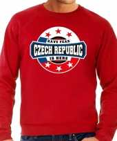 Have fear czech republic is here sweater tsjechie supporters rood heren