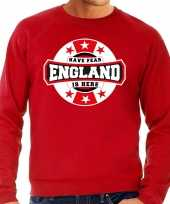 Have fear england is here engeland supporter sweater rood heren