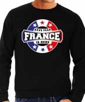 Have fear france is here sweater frankrijk supporters zwart heren