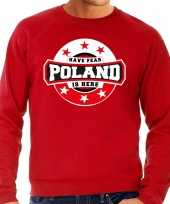 Have fear poland is here polen supporter sweater rood heren
