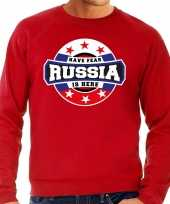 Have fear russia is here rusland supporter sweater rood heren