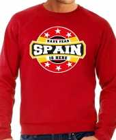 Have fear spain is here sweater spanje supporters rood heren