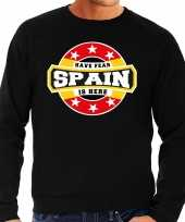 Have fear spain is here sweater spanje supporters zwart heren