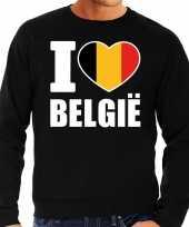 I love belgie sweater trui zwart heren