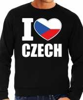 I love czech sweater trui zwart heren