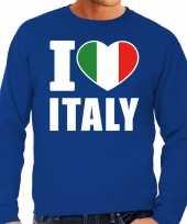 I love italy sweater trui blauw heren