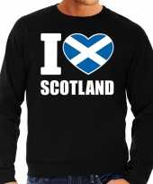 I love scotland sweater trui zwart heren