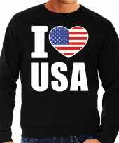 I love usa sweater trui zwart heren