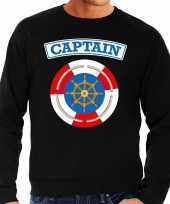 Kapitein captain verkleed sweater zwart heren