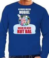 Kut kerstbal sweater kerst outfit ik vroeg om een mobiel krijg ik deze kut bal blauw heren