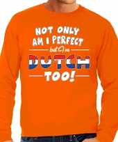Not only perfect dutch nederland sweater oranje heren