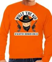 Oranje koningsdag willy the kid sweater heren