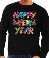 Oud nieuw trui sweater happy new year zwart heren
