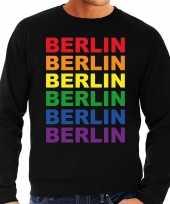 Regenboog berlin gay pride zwarte sweater heren