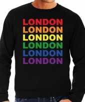 Regenboog london gay pride zwarte sweater heren