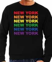 Regenboog new york gay pride zwarte sweater heren