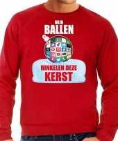 Rinkelende kerstbal sweater kerst outfit mijn ballen rinkelen deze kerst rood heren