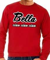 Rode bella ciao sweater heren