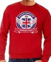 Rode engeland drinking team sweater heren