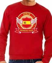 Rood spain drinking team sweater heren