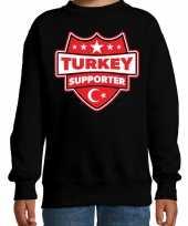 Turkije turkey schild supporter sweater zwart kinderen