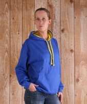 Varsity dames sweater kobalt geel