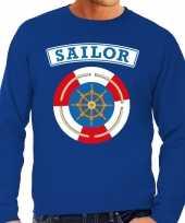 Zeeman sailor verkleed sweater blauw heren