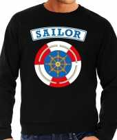 Zeeman sailor verkleed sweater zwart heren